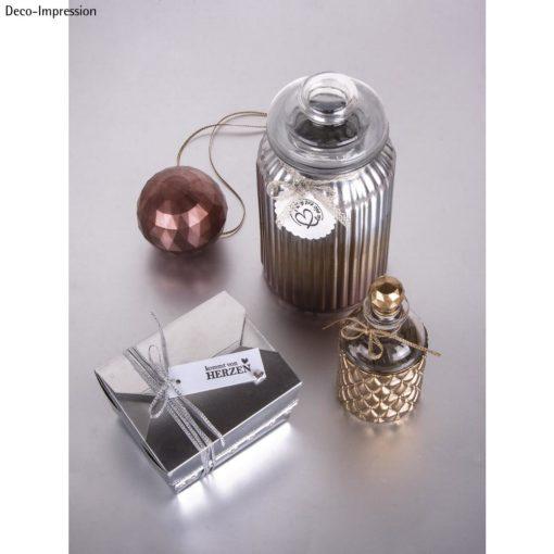 Dekoidee mit High gloss Metallic Spray in silber, gold und Kupfer