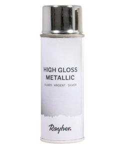 High gloss Metallic Spray in silber