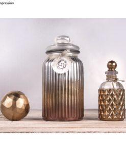 Dekoidee mit High gloss Metallic Spray in silber und gold