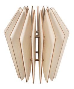 Holz Lamellenlampe Kopenhagen