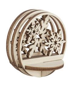 Holzsteckteil Schneeflocke