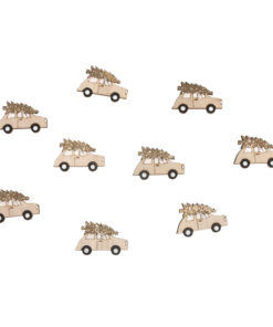 Holz Streuteile Auto teilweise beglimmert