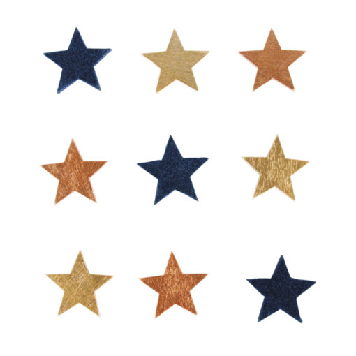 Holz-Streuteile Sterne sortiert
