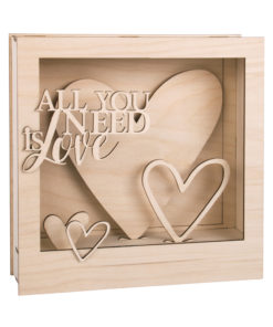 Holzbausatz 3D Motivrahmen Herz