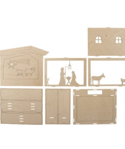 Holzbausatz 3D Motivrahmen Krippe