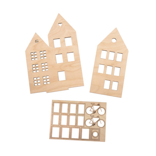 Holzmotiv Häuser