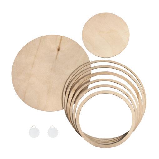 Holzplatten und Holzringe Set