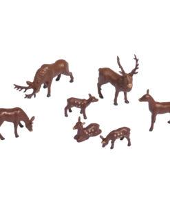 Kunststoff-Miniaturen Hirsche