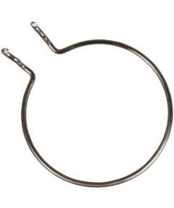 Metall-Halterung, rund in silber