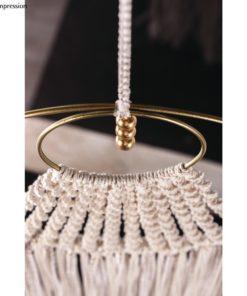 Dekoidee mit Metallringe beschichtet in gold