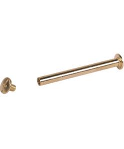 Metallstift mit Schraube in gold