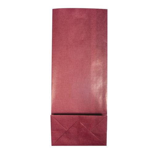 Papier Blockbodenbeutel, bordeaux
