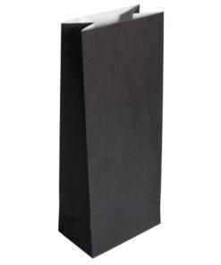 Papier Blockbodenbeutel, schwarz