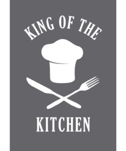 """Schablone """"King of the kitchen"""" A5"""