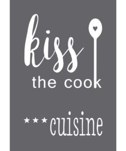 """Schablone """"Kiss the cook"""" A5"""