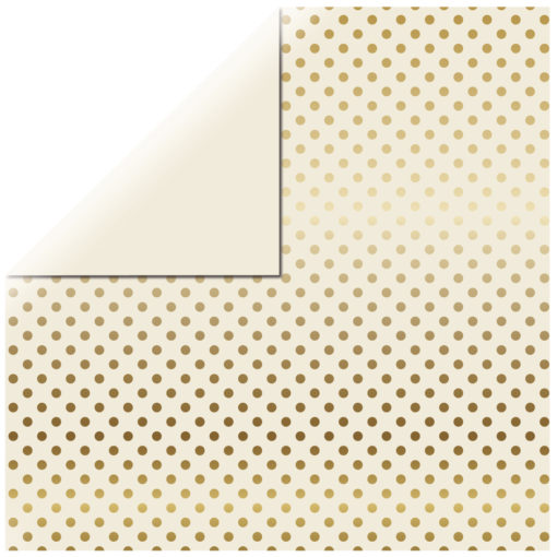 """Scrapbookingpapier """"Gold Foil Dots"""""""