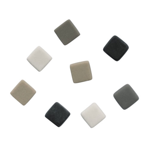 Silky Glas Mosaikmischung grau
