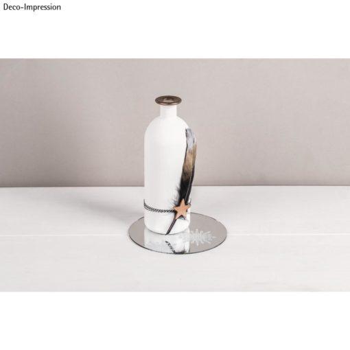 Vase auf Spiegelplatte, 15cm ø