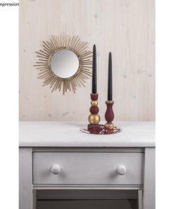 Sonnenspiegel und Leuchter auf Spiegelplatte