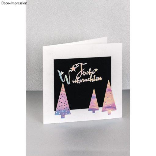 Weihnachtskarte mit Text Frohe Weihnachten