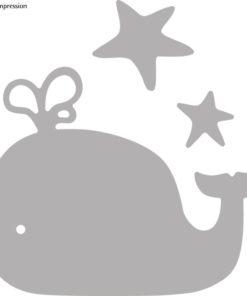 Stanzschablonen Set: Whale, deep edge