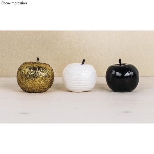 Styropor Äpfel mit Stiel