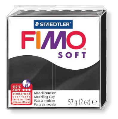 Ofenhärtende Modelliermasse Fimo, schwarz