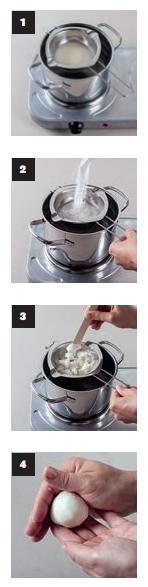 Step by Step Fotos zur Herstellung von Badekugeln. für Wellness Auszeiten.