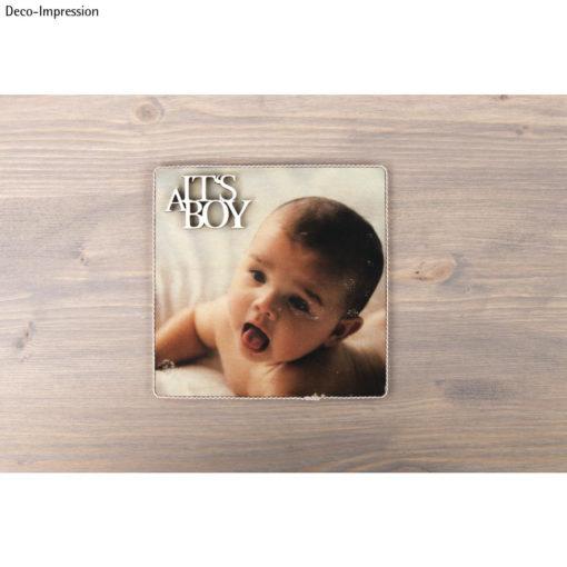Holzschrift Its a boy
