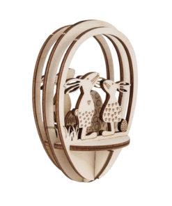 Steckteil Hasen aus Holz