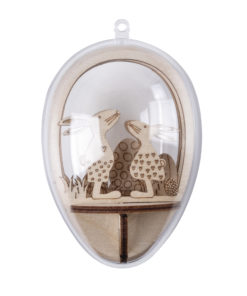 Plexiei mit Hasen aus Holz
