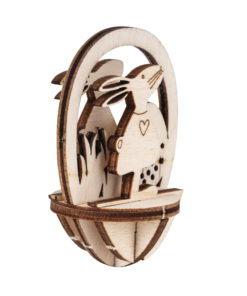 Plexiei mit Holzsteckteil Hase