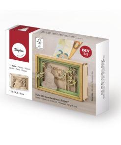 Geschenkbox aus Holz für Geldgeschenk