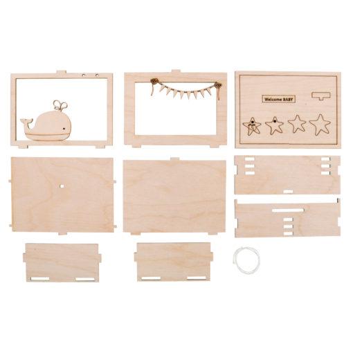 Geschenkbox Wal aus Holz