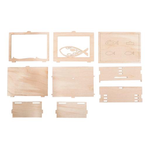 Geschenkbox Fisch aus Holz