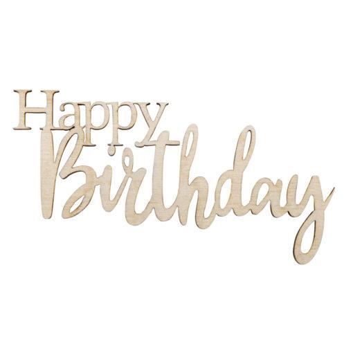 Happy Birthday Mini-Holzschrift zum Bemalen