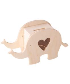 Holz-Box Elefant