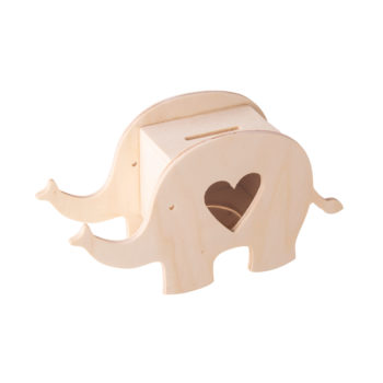 Holz-Box Elefant