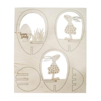 dekorative Holz-Steckteile zum Osterbasteln