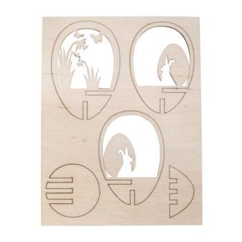 Holz-Steckteile für Kunststoffei