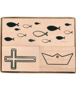 Holzstempel zur Kartengestaltung
