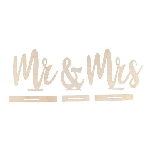 Holzmotiv Mr & Mrs zum Bemalen