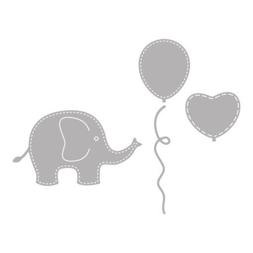 Stanzschablone Baby Elefant