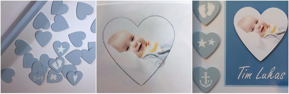 Vorschaubilder Step 1-3 für den Bilderrahmen Baby.