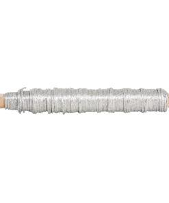 Papierdraht, 0,55mm ø in silber