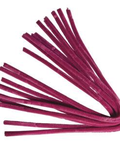 Rayher Chenilledraht pink, 50 cm, Stärke 9 mm,10 Stück