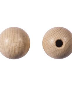 Rayher Rohholzkugeln halbgebohrt, 25mm