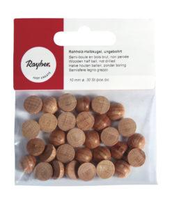 Rohholz-Halbkugel, ungebohrt, 10mm ø