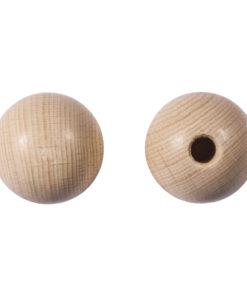 Rohholz-Kugeln, halbgebohrt, 35mm ø