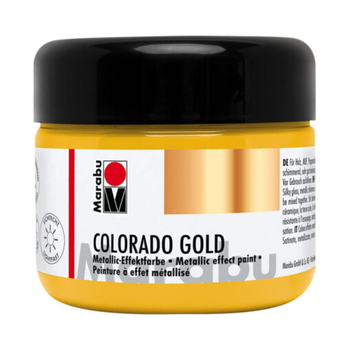 Marabu Metallic-Effektfarbe in Metallic-Gold